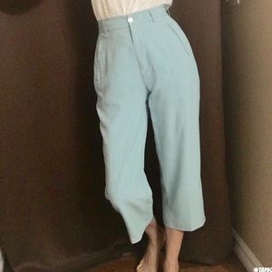 NWOT Tommy Bahama high waisted silk crop pants 4